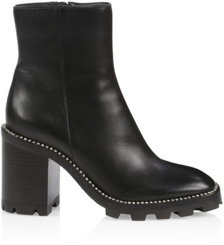 Jimmy Choo Mava Lug-Sole Embellished Leather Ankle Boots