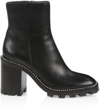 Jimmy Choo Mava Lug-Sole Embellished Leather Ankle Boots