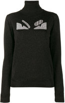 Fendi monster turtleneck jumper - women - Polyamide/Polyester/Wool - 42