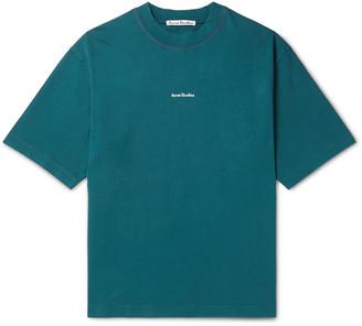 Acne Studios Logo-Print Garment-Dyed Cotton-Jersey T-Shirt