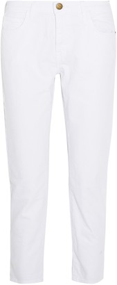Current/Elliott Cropped Low-rise Slim-leg Jeans