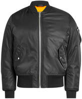 Calvin Klein Satin Bomber Jacket with Shearling Lining