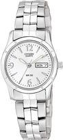 JCPenney Citizen Quartz Citizen Womens White Dial Stainless Steel Bracelet Watch EQ0540-57A