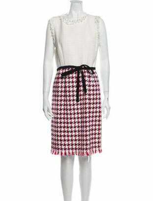Oscar de la Renta 2018 Knee-Length Dress w/ Tags White