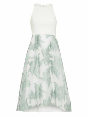 Adrianna Papell Organza Jacquard Combo Dress