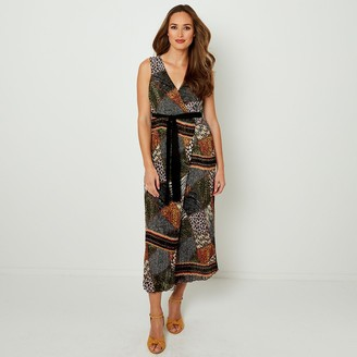Joe Browns Reversible Printed Sleeveless Maxi Dress with Tie-Waist