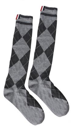 Thom Browne Classic Argyle Mid-calf Socks