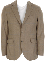 Hackett London Blue Deco Jacket Tan Brown