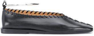 Jil Sander Stitching Detail Ballerina Shoes