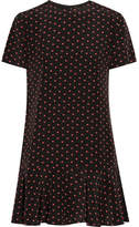 Saint Laurent Printed Silk Crepe De Chine Mini Dress - Black