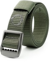 JasGood Women's Nylon Military Skinny Belt For Women Tactical Belt With Alloy Buckle