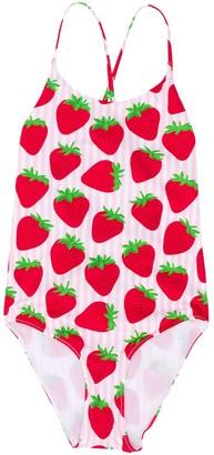 Mc2 Saint Barth Kids Strawberry Swim Suit