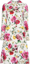 Dolce & Gabbana Floral double breasted coat