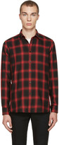Saint Laurent Black & Red Check Shirt