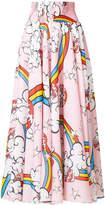 Mira Mikati Mushroom print long skirt