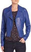 Armani Collezioni Armani Jeans Leather Moto Jacket