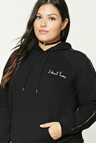 Forever 21 Plus Size I Dont Know Hoodie