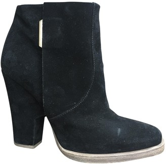 Theyskens' Theory Black Suede Ankle boots