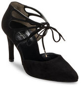 Paul Green Justeen Suede Cutout Lace-Up Pumps
