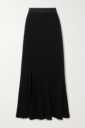 Ann Demeulemeester Paneled Jersey Midi Skirt - Black