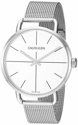 Calvin Klein Even Unisex Stainless Steel Mesh Bracelet Watch