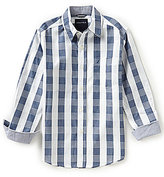 Nautica Big Boys 8-20 Button-Front Long-Sleeve Plaid Shirt