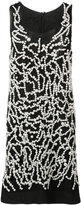 Vera Wang pearl embroidered tank dress - women - Nylon/plastic - 0