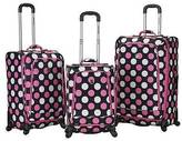 Rockland Fusion 3pc. Expandable Spinner Luggage Set - Multi Pink Dot