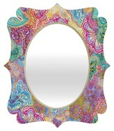 DENY Designs Flourish Allover Quatrefoil Mirror