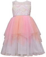 Bonnie Jean Girls 7-16 Lace Tiered Mesh Ballerina Dress