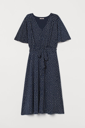 H&M Creped Jersey Dress - Blue