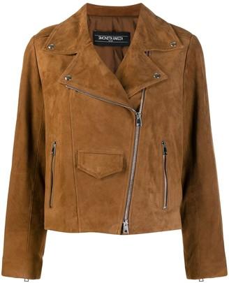 Simonetta Ravizza Textured Biker Jacket