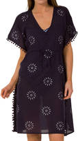 Aspiga Saskia Cotton Kaftan Navy And White