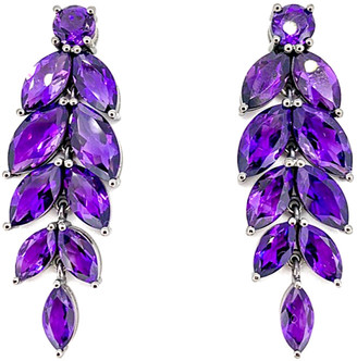 Arthur Marder Fine Jewelry Silver Amethyst Earrings
