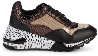 Steve Madden Redel Mixed-Media Chunky Sneakers