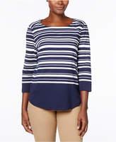Karen Scott Striped T-Shirt, Created for Macy's