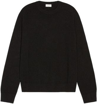 Saint Laurent Crew Neck Sweater in Black   FWRD