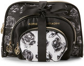 Adrienne Vittadini Set of 3 Inverted Floral Dome Cosmetic Bags