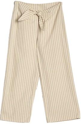 Moon River Stripe Front Tie Pants