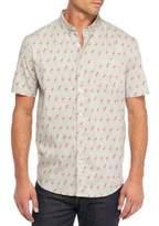 Retrofit Mens Short Sleeve Woven Button Up Shirt