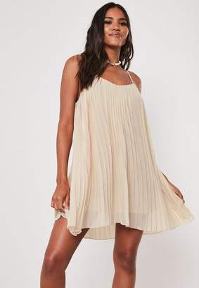 Missguided Strappy Pleated Mini Dress