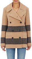 Rag & Bone Women's Sky Striped Peacoat-TAN