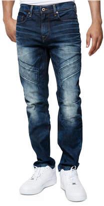 Sean John Men Breaker Slim-Fit Moto Jeans