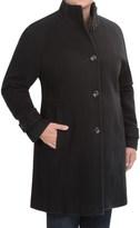Jones New York Mock Neck Coat - Wool (For Plus Size Women)