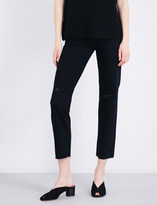 AG Jeans Phoebe tapered high-rise jeans