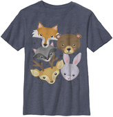 Fifth Sun Navy Heather Woodland Friends Crewneck Tee - Boys