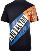 River Island MensNavy Lou Dalton brand print t-shirt