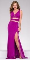 Jovani Two Piece Jersey Criss Cross Back Prom Dress