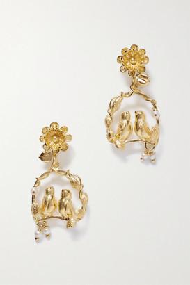 OF RARE ORIGIN Inseparable Gold Vermeil Pearl Earrings - one size