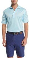 Peter Millar Jacquard-Knit Short-Sleeve Polo Shirt, Light Blue